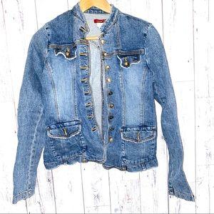Forever 21 Jean Denim Jacket M Victorian button